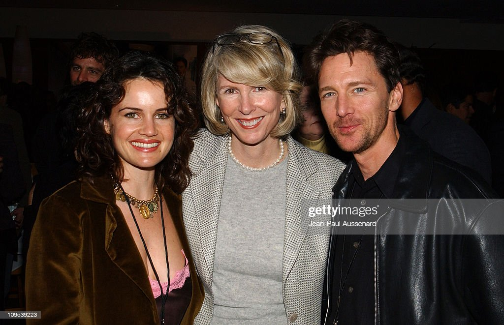 Carla Gugino Susan Lyne and Andrew McCarthy during ABC AllStar Party at Astra West in West Hollywood California United States
