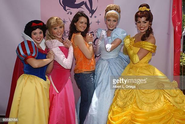 Carla Gugino with Disney's Princess