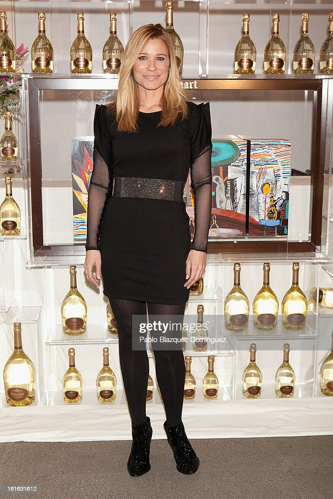 Carla Hidalgo attends 'Ruinart' Party at Marlborough Gallery on February 13, 2013 in Madrid, Spain.