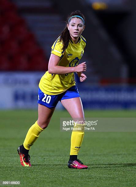 Carla Humphrey Doncaster Rovers Belles during the WSL 1 match between Doncaster Rovers Belles and Sunderland AFC Ladieson at the Keepmoat stadium on...