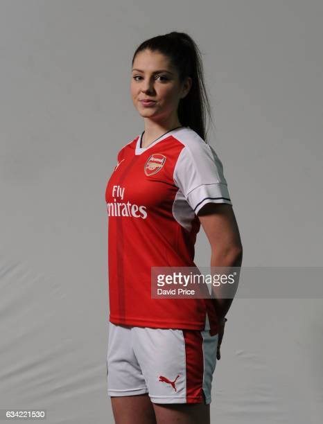 Carla Humphrey of Arsenal Ladies during Arsenal Ladies Photocall at London Colney on February 7 2017 in St Albans England