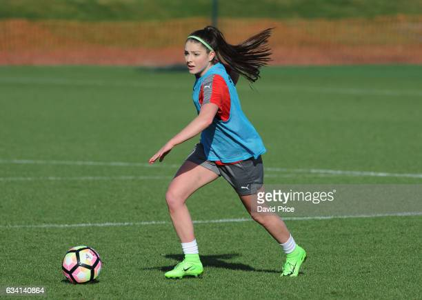 Carla Humphrey of Arsenal Ladies during Arsenal Ladies Training Session at London Colney on February 7 2017 in St Albans England