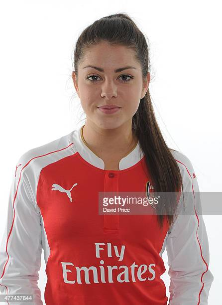Carla Humphrey of Arsenal Ladies poses at London Colney on March 24 2015 in St Albans England