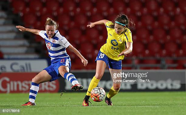 Carla Humphrey of Doncaster Rovers Belles and Remi Allen of Reading FC Women during the WSL 1 match between Doncaster Rovers Belles and Reading FC...