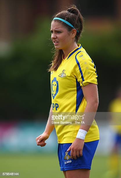 Carla Humphrey of Doncaster Rovers Belles in action during the FA WSL 1 match between Chelsea Ladies FC and Doncaster Rovers Belles at Wheatsheaf...