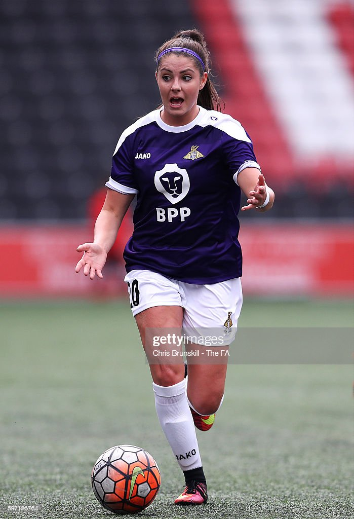 Carla Humphrey of Doncaster Rovers Belles in action during the FA WSL match between Liverpool Ladies FC and Doncaster Rovers Belles at the Halton...