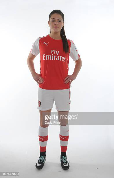 Carla Humphrey of the Arsenal Ladies at London Colney on March 24 2015 in St Albans England