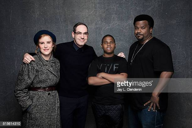Carla Juri Chad Hartigan Markees Christmas and Craig Robinson of 'Morris From America' pose for a portrait at the 2016 Sundance Film Festival on...