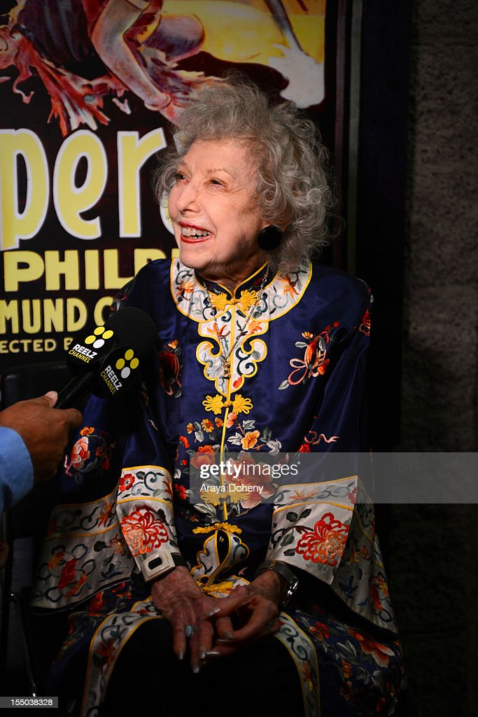 Carla Laemmle attends The Academy of Motion Picture Arts and Sciences' screening of 'The Phantom Of The Opera' at AMPAS Samuel Goldwyn Theater on October 30, 2012 in Beverly Hills, California.