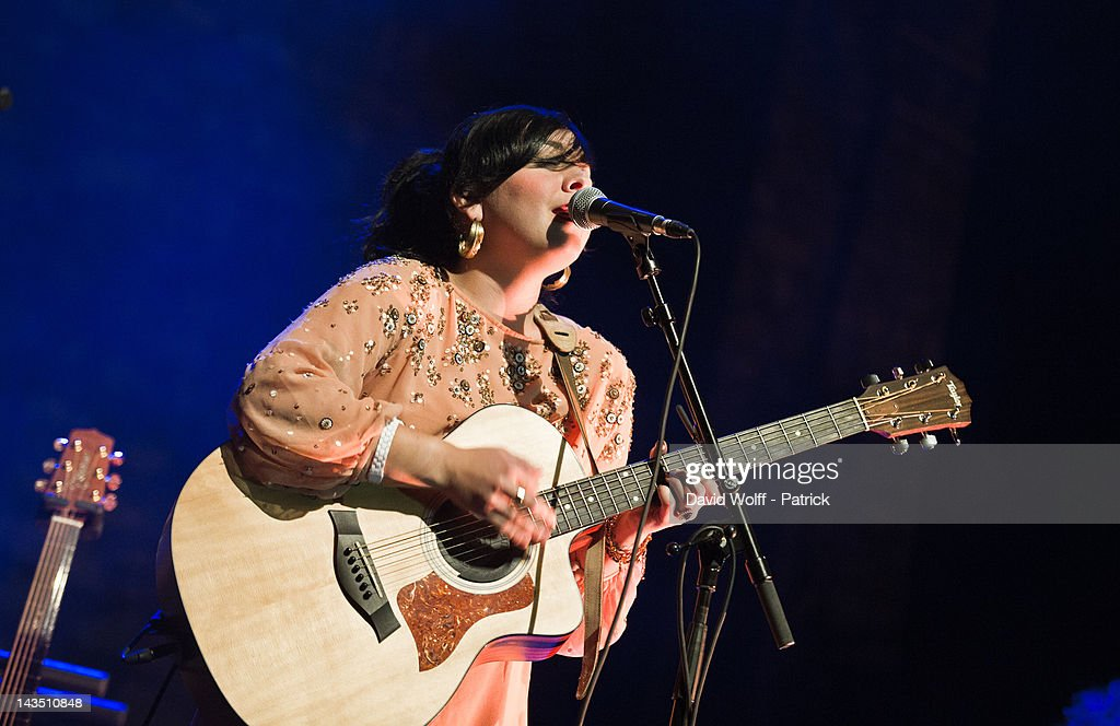 <a gi-track='captionPersonalityLinkClicked' href=/galleries/search?phrase=Carla+Morrison&family=editorial&specificpeople=8556751 ng-click='$event.stopPropagation()'>Carla Morrison</a> opens for Natalia Lafourcade and Russian Red at Cafe de la Danse on April 27, 2012 in Paris, France.