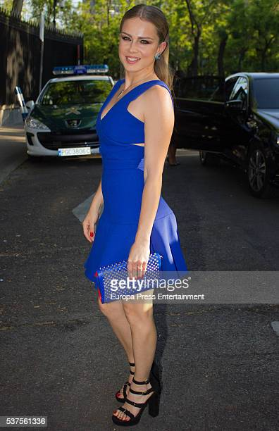 Carla Nieto attends the Stuart Weitzman cocktail party at the USA Ambassador's Residence on June 1 2016 in Madrid Spain