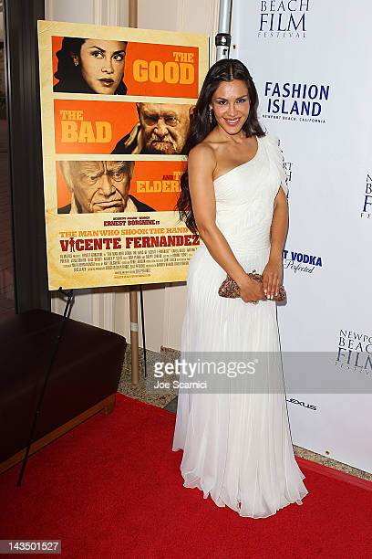 Carla Ortiz arrives at the 2012 Newport Beach Film Festival 'The Man Who Shook The Hand Of Vicente Fernandez' Premiere at Islands Cinema on April 27...
