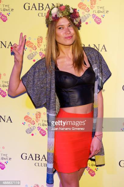 Carla Pereira attends 'The Flower Party' at Gabana Club on May 8 2014 in Madrid Spain