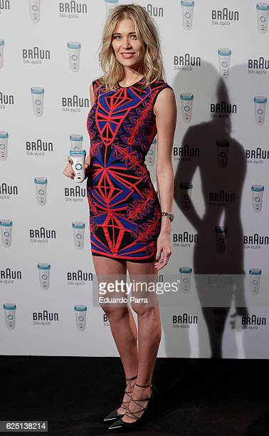 Carla Pereira attends the new 'Braun Silkepil 9' presentation at Hotel de las Letras on November 22 2016 in Madrid Spain