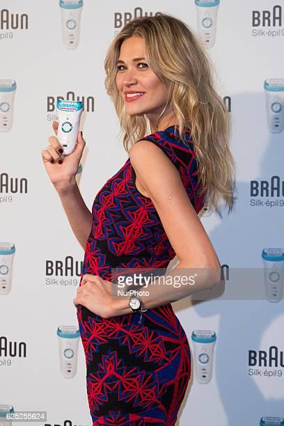 Carla Pereira attends the new 'Braun Silkepil 9' presentation at Hotel de las Letras on November 22 2016 in Madrid Spain