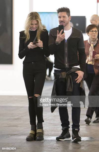 Carla Pereyra and Diego Simeone attend the International Contemporary Art Fair ARCO 2017 at Ifema on February 22 2017 in Madrid Spain