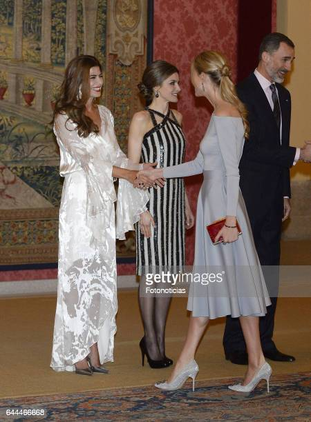 Carla Pereyra attends a reception offered by Argentina's President Mauricio Macri and his wife Juliana Awada in honour of King Felipe of Spain and...