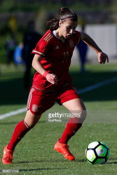 Carla Piqueras Bautista of Spain during the UEFA U17 Women's Championship Qualifier match between Spain and Portugal at Cidade do Futebol stadium on...