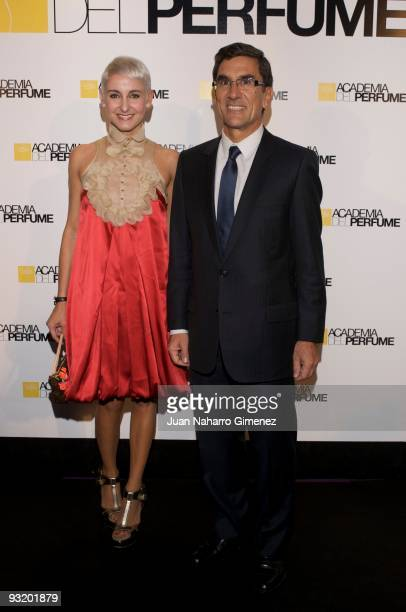 Carla Royo Villanova and Juan Pedro Abeniacal member of the LVMH attend the 'Academia del Perfume' awards on November 18 2009 in Madrid Spain