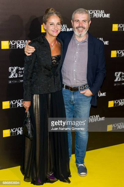 Carla Royo Villanova and Lorenzo Caprile attend 'Academia del Perfume' awards 2017 at Teatro de la Zarzuela on May 22 2017 in Madrid Spain