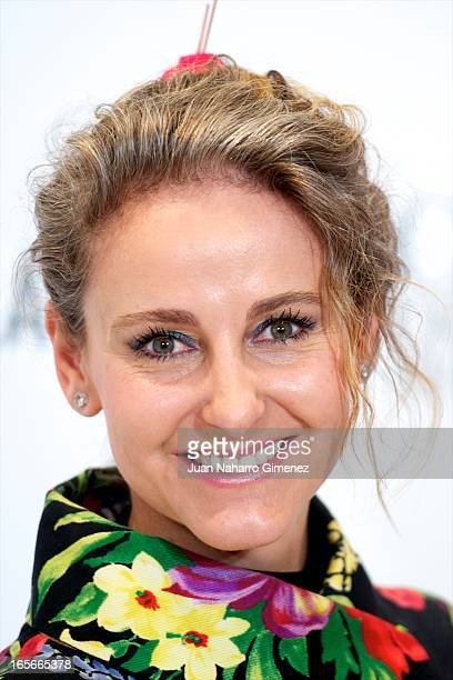 Carla Royo Villanova attends the presentation of the 'Head Over Heels' campaign at Rozas Village on April 5 2013 in Madrid Spain