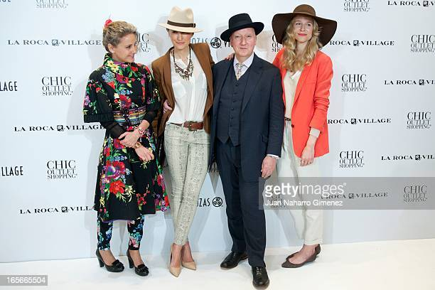 Carla Royo Villanova Monica de Tomas Stephen Jones and Maria Leon attend the presentation of the 'Head Over Heels' campaign at Rozas Village on April...