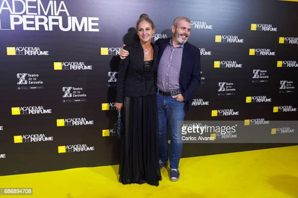 Carla RoyoVillanova and designer Lorenzo Caprile attends the 'Academia del Perfume' awards 2017 at the Zarzuela Teather on May 22 2017 in Madrid Spain