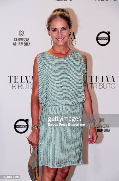 Carla RoyoVillanova attends the tribute gala to Paco Rabanne at Real Academia de Bellas Artes de San Fernando on June 8 2017 in Madrid Spain