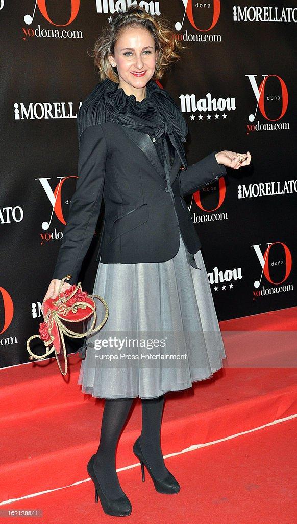 Carla Royo-Villanova attends 'Yo Dona' magazine mask party on February 18, 2013 in Madrid, Spain.