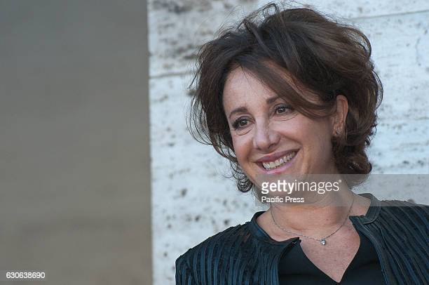 Carla Signoris attends a photocall for 'Mister Felicita' Mister Felicità a film directed by Alessandro Siani