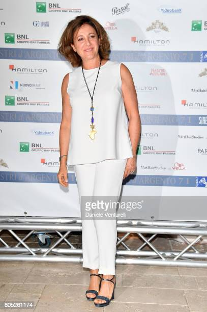 Carla Signoris attends Nastri D'Argento 2017 Press Conference on July 1 2017 in Taormina Italy