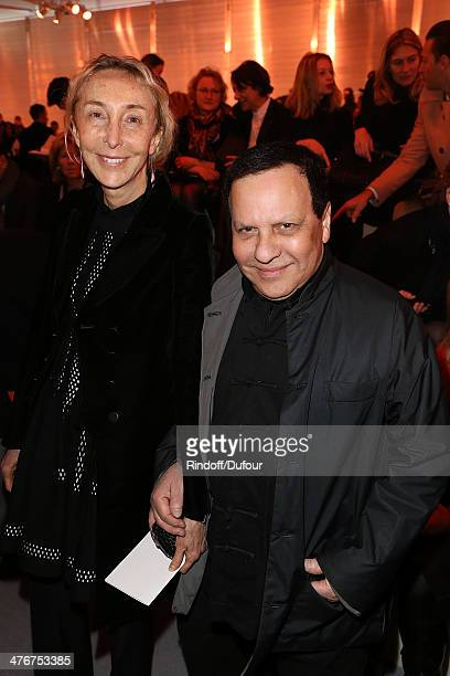 Carla Sozzani and Azzedine Alaia attend the Louis Vuitton show as part of the Paris Fashion Week Womenswear Fall/Winter 20142015 on March 5 2014 in...