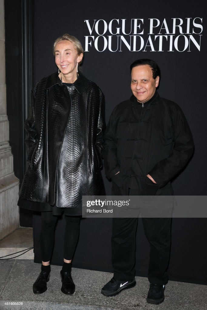Carla Sozzani and Azzedine Alaia attend the Vogue Foundation Gala as part of Paris Fashion Week at Palais Galliera on July 9, 2014 in Paris, France.