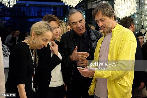 Carla Sozzani Stefania Rocca Carlo Capasa and Marc Newson attend 'Safilo By Marc Newson' Presentation on April 7 2014 in Milan Italy