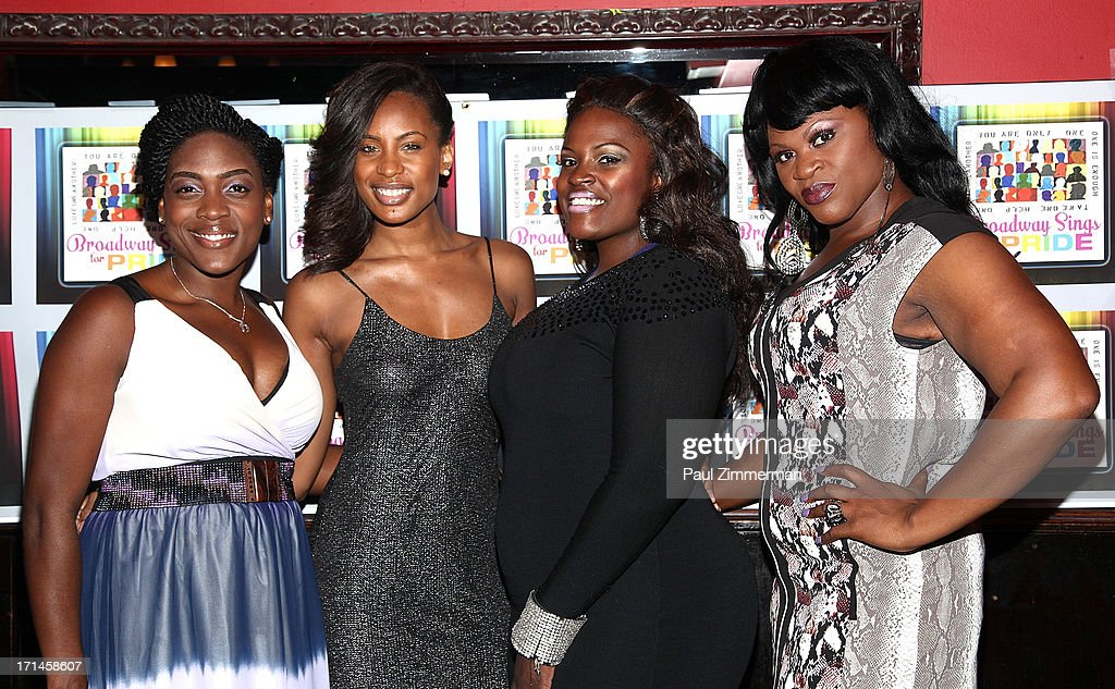 Carla Stewart, Chondra Profit, Brandi Chavonne Massey and Romelda T. Benjamin attend Broadway Sings For Pride NYC 2013 Benefit at Iguana on June 24, 2013 in New York City.