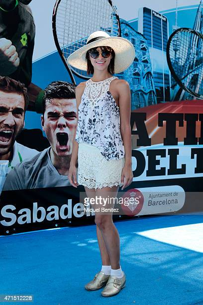 Carla wears a pamela of Bershka Prada sunglasses Nina Kendosa France short a HM top and Cerere Flex Line trainers during the 63rd Barcelona Open Banc...