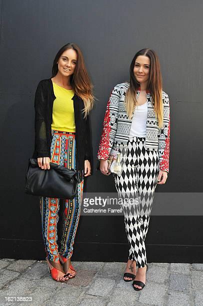 Carla Webster a fashion merchandiser wearing a Topshop mesh fringed cardigan River Island geometric print trousers Zara sandals Roll down clutch by...