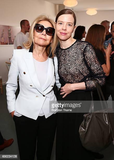 Carla Zampatti and Bianca Spender pose during the Australian Fashion Foundation Awards 2016/17 on December 19 2016 in Sydney Australia