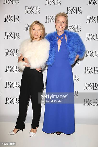 Carla Zampatti and Marta Dusselsorp arrives at the David Jones Spring/Summer 2014 Collection Launch at David Jones Elizabeth Street Store on July 30...