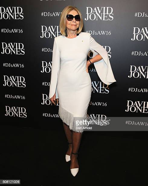 Carla Zampatti arrives ahead of the David Jones Autumn/Winter 2016 Fashion Launch at David Jones Elizabeth Street Store on February 3 2016 in Sydney...