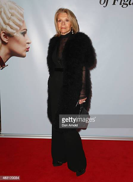 Carla Zampatti arrives ahead of The Marriage of Figaro Opening Night at Sydney Opera House on August 6 2015 in Sydney Australia