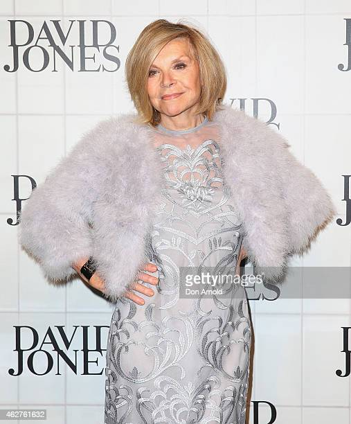 Carla Zampatti arrives at the David Jones Autumn/Winter 2015 Collection Launch at David Jones Elizabeth Street Store on February 4 2015 in Sydney...