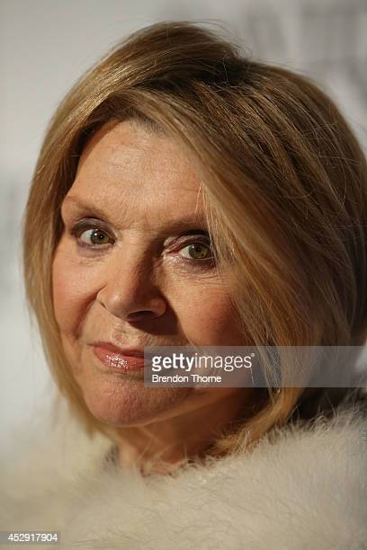 Carla Zampatti arrives at the David Jones Spring/Summer 2014 Collection Launch at David Jones Elizabeth Street Store on July 30 2014 in Sydney...