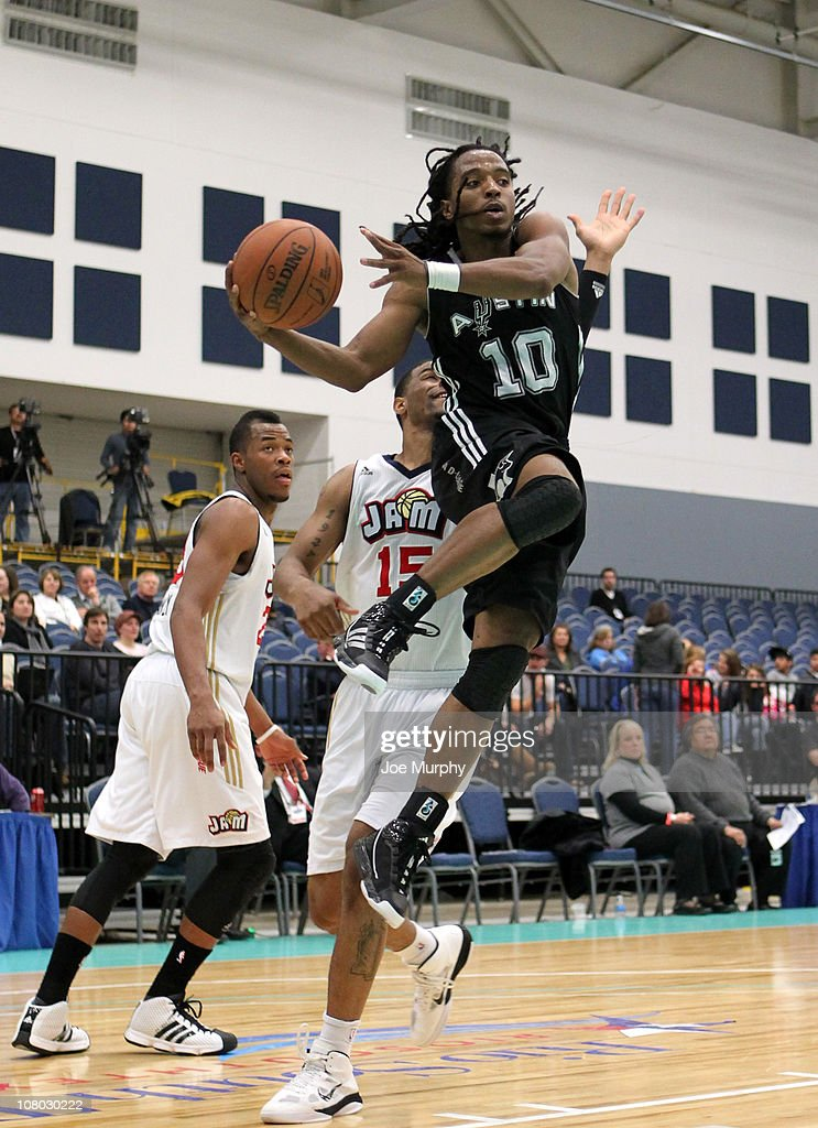 Carldell Johnson #10 of the Austin Toros shoots the ball against the Bakersfield Jam during the 2011 NBA D-League Showcase on January 13, 2011 at the South Padre Island Convention Center in South Padre Island, Texas.