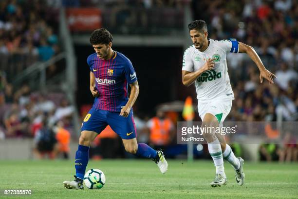 30 Carles Alena from Spain of FC Barcelona during the Joan Gamper Trophy match between FC Barcelona vs Chapecoense at Camp Nou Stadium on August 7th...