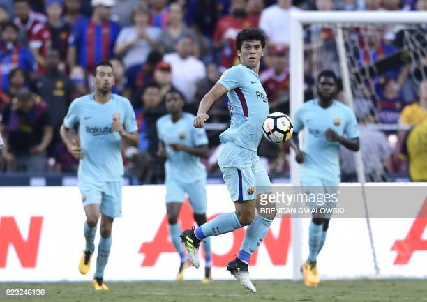 Carles Alena of Barcelona controls the ball during their International Champions Cup football match against Manchester United on July 26 2017 at the...
