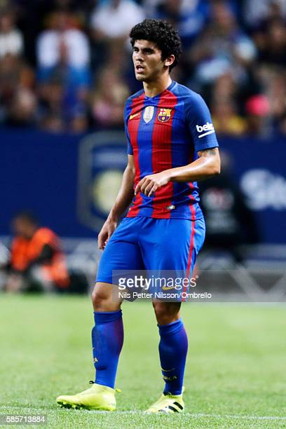 Carles Alena of FC Barcelona during the International Champions Cup match between Leicester City FC and FC Barcelona at Friends arena on August 3...
