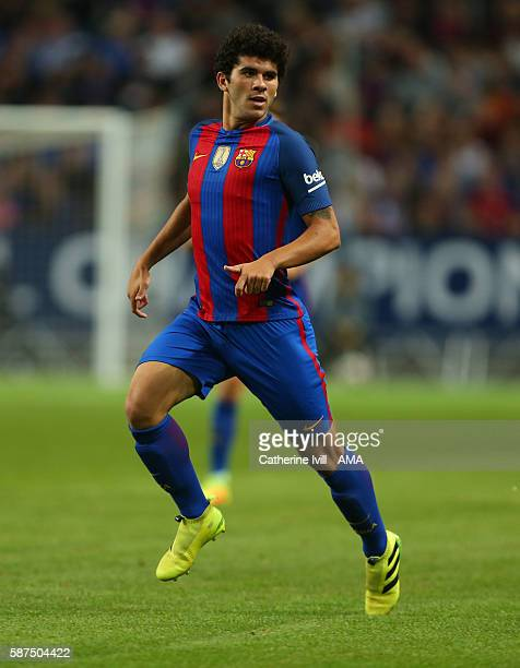 Carles Alena of FC Barcelona during the International Champions Cup 2016 match between Barcelona and Leicester City at Friends arena on August 3 2016...