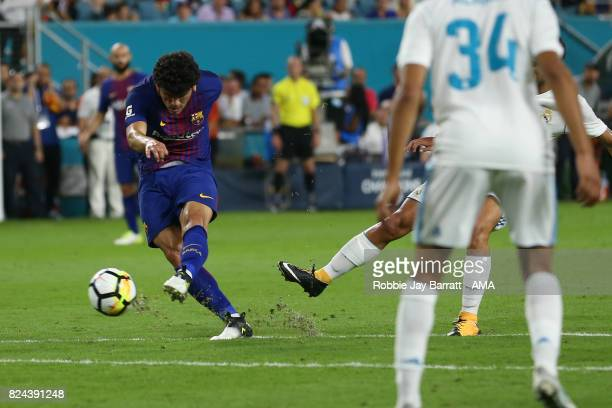 Carles Alena of FC Barcelona during the International Champions Cup 2017 match between Real Madrid and FC Barcelona at Hard Rock Stadium on July 29...