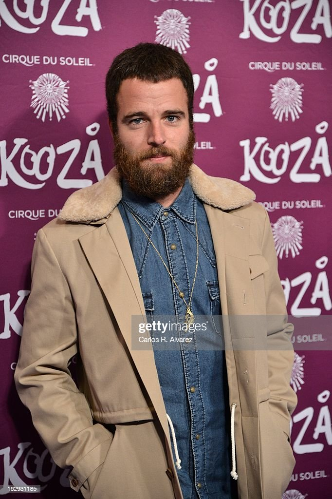 Carles Francino attends 'Cirque Du Soleil' Kooza 2013 premiere on March 1, 2013 in Madrid, Spain.